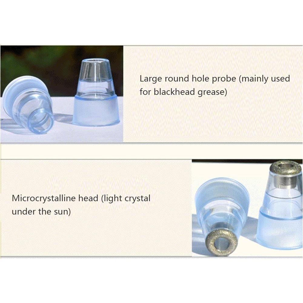 Pore Vacuum Blackhead Remover Suction Acne Peeling Pore Face Cleanser Facial Skin Care Diamond Microdermabrasion Beauty Machine