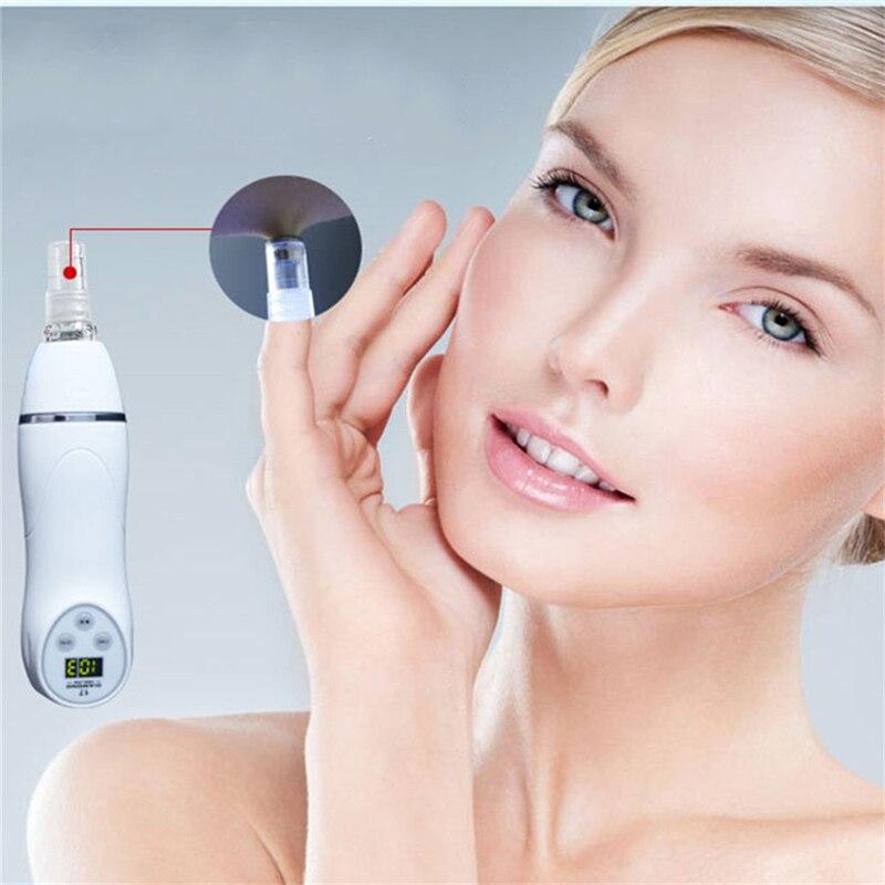 6 Tips Portable Microdermabrasion Diamond Peeling Device Blackhead Spot Removal Skin Peel Diamond Dermabrasion Facial Massage