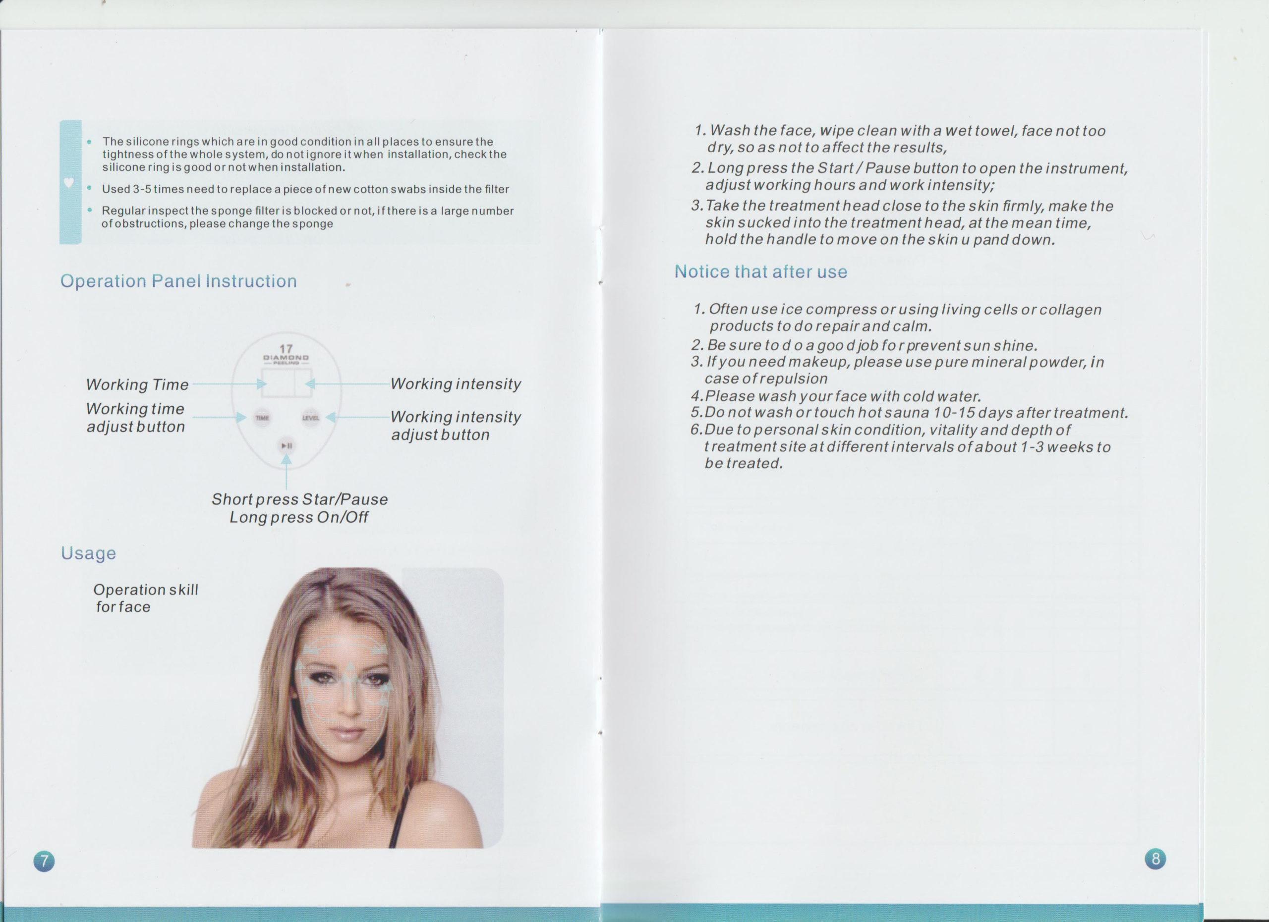 Diamond 17 Potable Microdermabrasion Diamond Peeling Device Blackhead Removal Skin Peel Diamond Dermabrasion Facial Massage