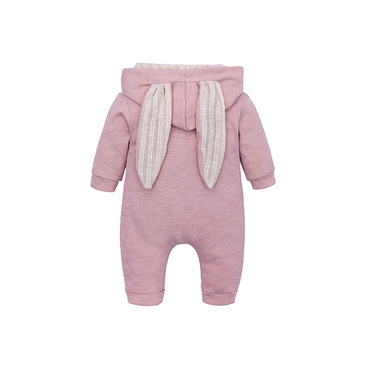Elvesnest Baby Romper Cartoon Bunny Baby Girl Clothes Cotton Long Sleeve Zipper Hoodie Newborn Boys Rompers 1-24 Months