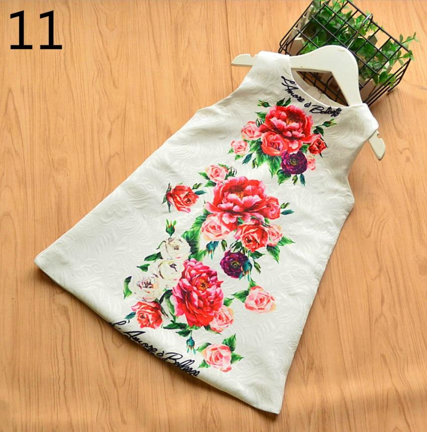 Girls Flower Princess Sundress Love Heart Embroidery Fashion Spring Autumn Vest Dress Baby Clothing E80703