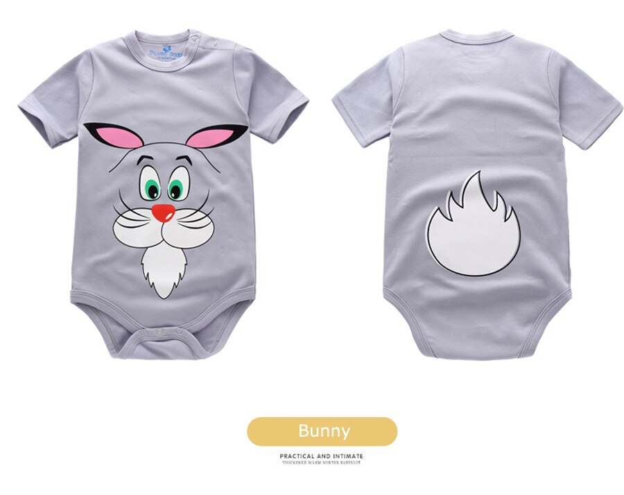 IYEAL Baby Romper Newborn Short Sleeves 4 Pcs 100% Cotton Cute Cartoon Printed Jumpsuit Baby Girls Boys Toddler Infant Clothes
