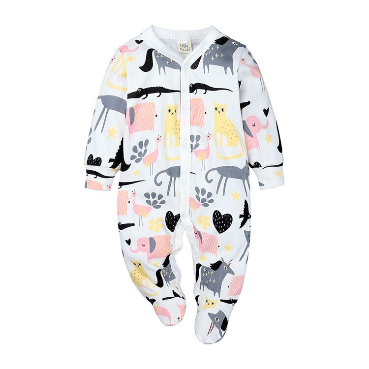 Elvesnest Baby Boys Clothes Soft Cotton Long Sleeve Toddler Romper Spring Autumn Infant Romper Cartoon Newborn Baby Girl Romper