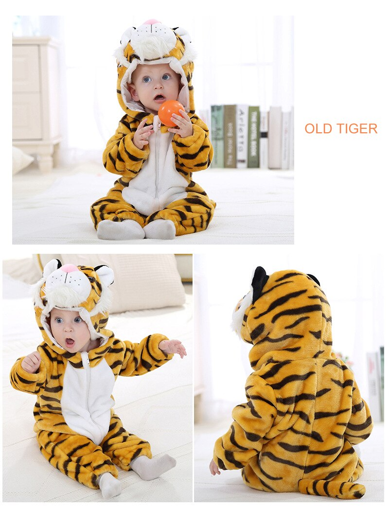 Cute Fashion Cartoon Flannel Baby Rompers Stitch Rabbit Panda Pajamas Cotton Baby Boy Girls Animal Costume Baby Jumpsuit Outfit