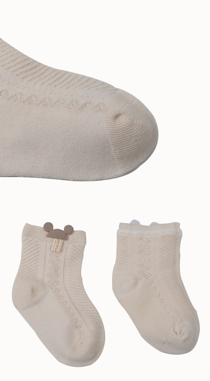 AiKway Infants Newborn Socks Children's Cotton Solid Color Socks Boys Girls Socks Accessories Decoration Baby Clothing