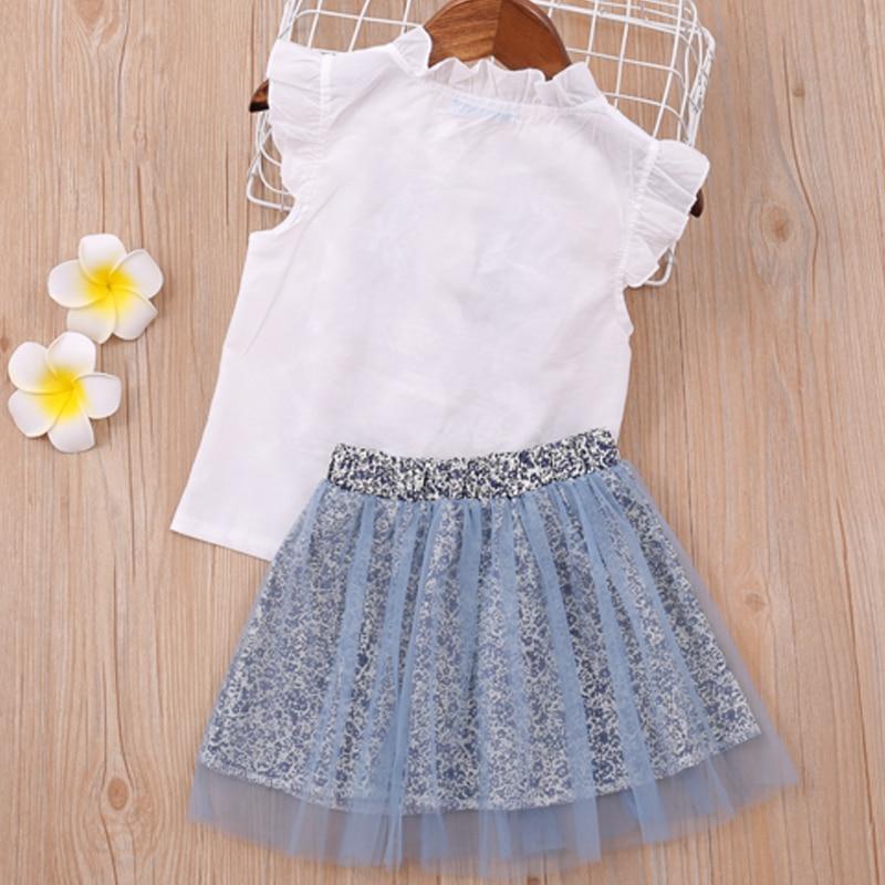 Sodawn Baby Girl Clothes 2020 Hot Summer New Girls' Clothing Sets Kids Bay clothes Toddler Chiffon bowknot coat+Pants 3-7Y