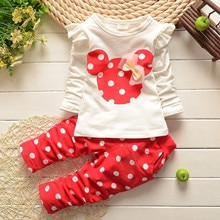 New Baby Girl Clothes Hot Sale Baby Clothing Sets Cartoon Printing Sweatshirts Pants Suit 2Pcs for Baby Long Sleeve Kids Clothes