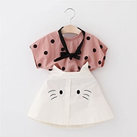 Sodawn 2020 Summer Girl Clothing Sets Sleeveless T-Shirt+Skirt 2Pcs Fruit Printed 2pcs Kids Clothes Suit Baby Girl Clothes