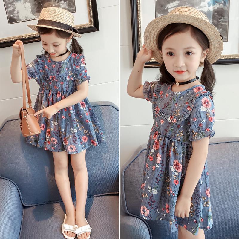 Sodawn  Kids Girl Dress For Girls Brand Summer 2020 Baby Girl Clothes Cotton Flower Printed Toddler Girl Dresses