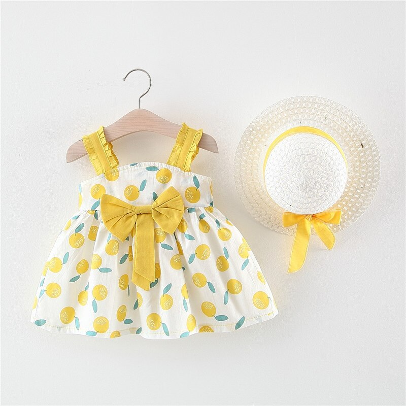 2020 Girl Dress Summer Cute Baby Girl Clothes Infant Bow Polka Dot Princess Dress  Birthday Party Dresses For Girls Kids Clothes