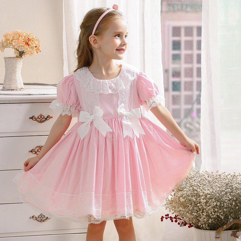 2020 Girls Dress Baby Princess Party Birthday Christmas Kids Dresses for Girl Bow Robe Fille Boutique Spain Children Clothes 5T
