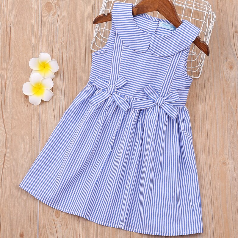 Humor Bear Baby Girls Dresses 2020 Summer Brand New Cute Bow Princess Baby Clothing Flying Sleeve Baby Dresses Kids Clothes