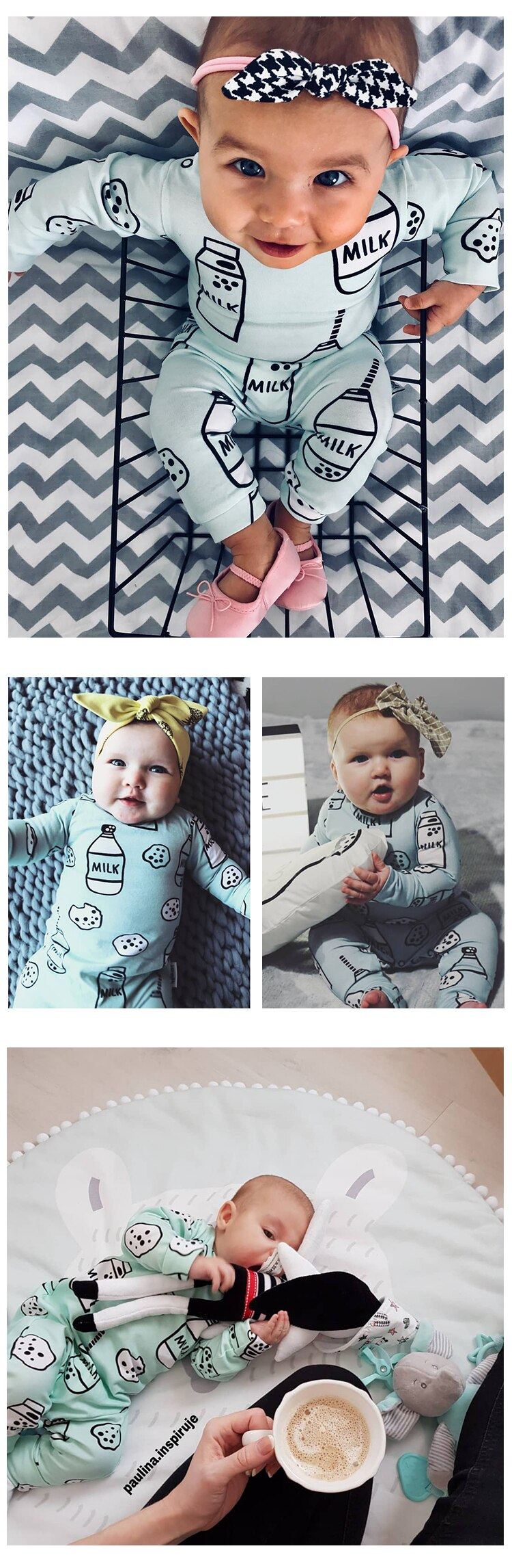TinyPeople 2020 Baby Romper cute Print Cotton Boys onesie Newborn autumn Girls Clothes Infant Baby Clothing Long Sleeve Jumpsuit