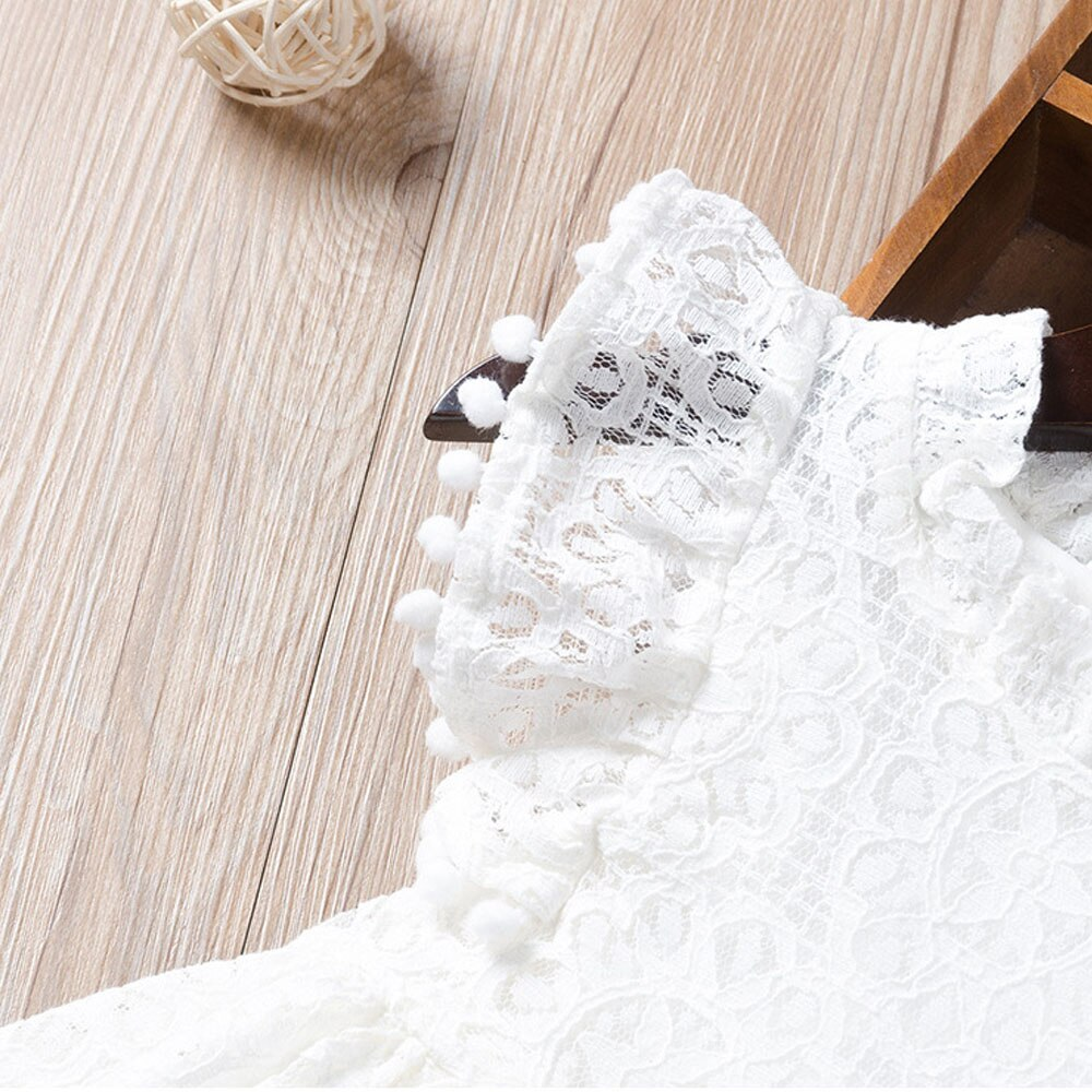 2020 new child wear girl  clothes dress Fashion lace flying sleeve princess dress banquet dress 1-6 Y quality baby clothing hot