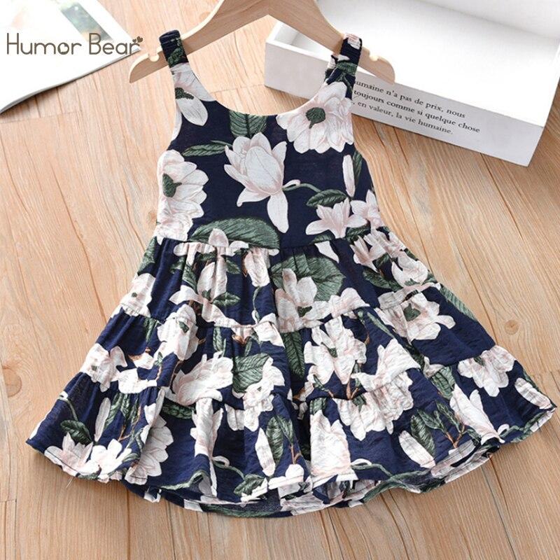 Humor Bear 2020 Summer Girls Dress Korean Version Floral Princess Baby Kids Clothes Children Girls Dress