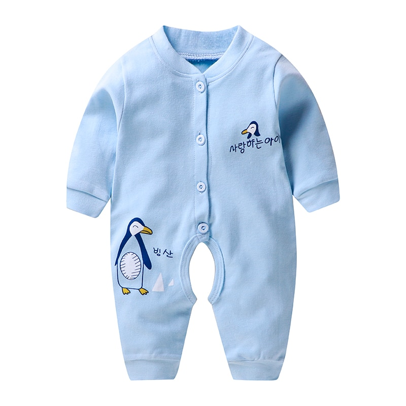 2020 Newborn Baby Boys Rompers Infantis Girls Full Sleeve Romper Jumpsuit for Kids New Born Baby Clothes 3 6 9 12 M