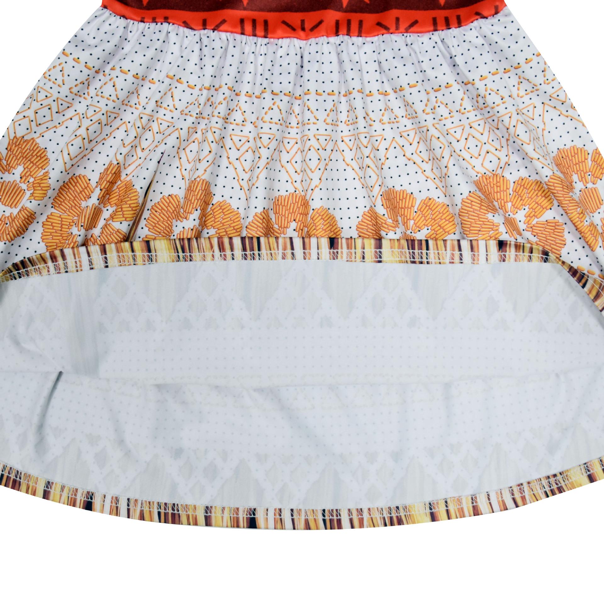 2020 New Moana Dress up Clothes Baby Girls christmas Vaiana Princess Cosplay Costume Toddler Kids Summer Beach Tutu Sundress