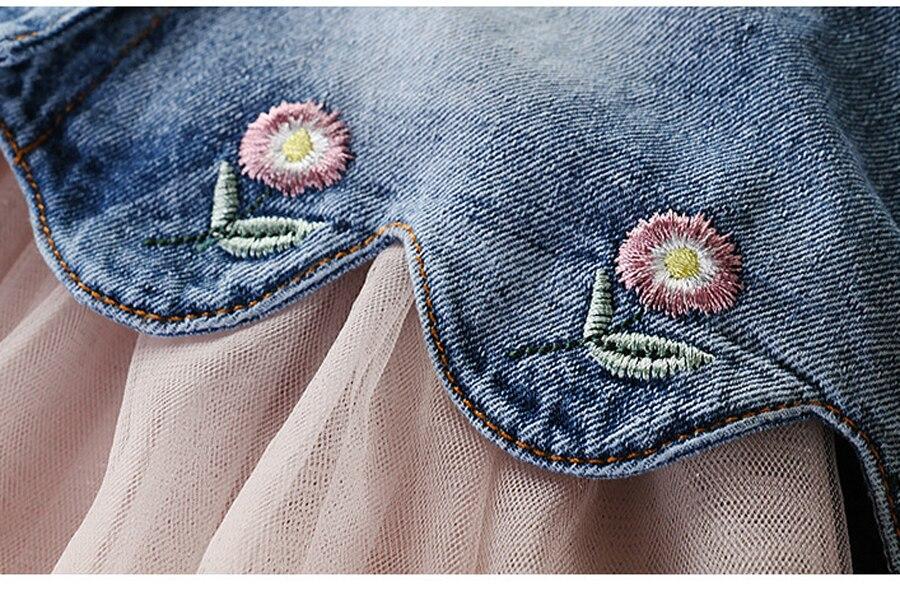 IYEAL Newest 2020  Spring Autumn Baby Girls Clothes Sets Denim Jacket+TUTU Dress 2 PCS Kids Suits Infant Children Clothing Set