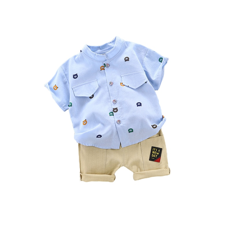 BibiCola Baby boys clothes set fashion summer boys clothing set cotton T-shirt + shorts 2pcs  outfits children clothes for 1-5Y