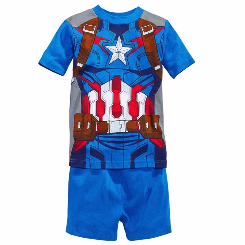 Boy girls pyjamas New summer cotton kids clothes girls set short sleeve clothes sets Batman spiderman Iron Man Short sleeve