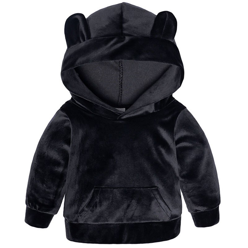 Baby Boys Girls Velvet Hooded Clothing Set Kids Jacket Coat Pants Suit for Sports Suits Tracksuits Toddler Children Clothes Set