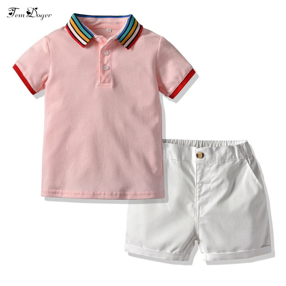 Tem Doger Baby Boy Clothing Sets 2019 Infant Newborn Boys Clothes Suit T-shirts+Shorts 2PCS Outfits Bebes Clothing for Summer