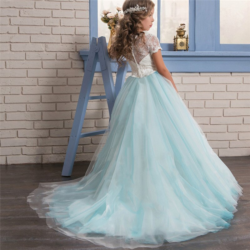 Sequined Bow-Knot Christmas Dress 6-14 Years Teen Girls New Year Costume Kids Dresses for Girls Princess Party Children Clothing