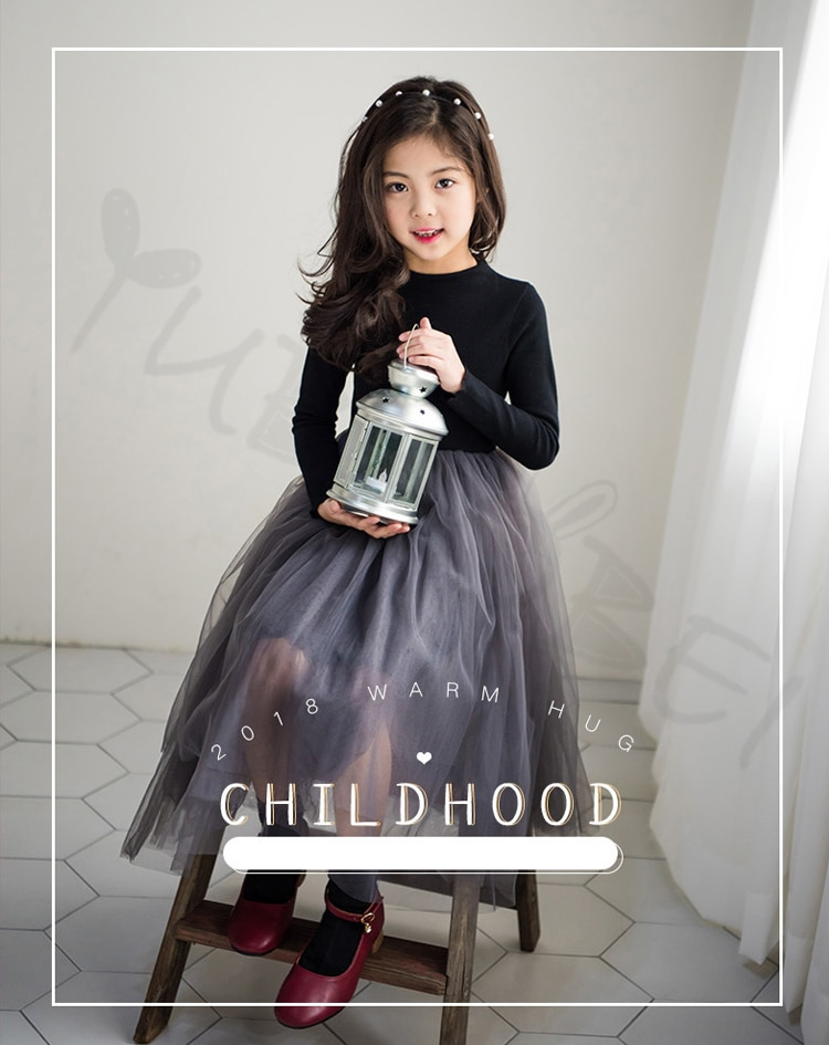 Spring Fall Baby Girls Party Frocks 2019 Elegant Girl Princess Tulle Evening Dress For Birthday Party Teens Kids Clothes 4-14T