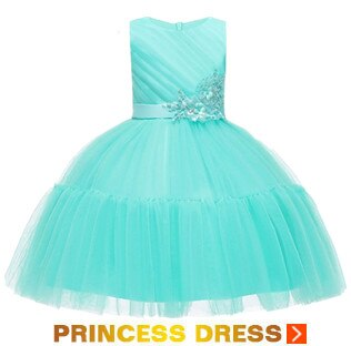Flower Girl Dress Teen Girl Christmas Dress For Girls Prom Attend Formal Party Dresses Girls Clothes White Girl Costume