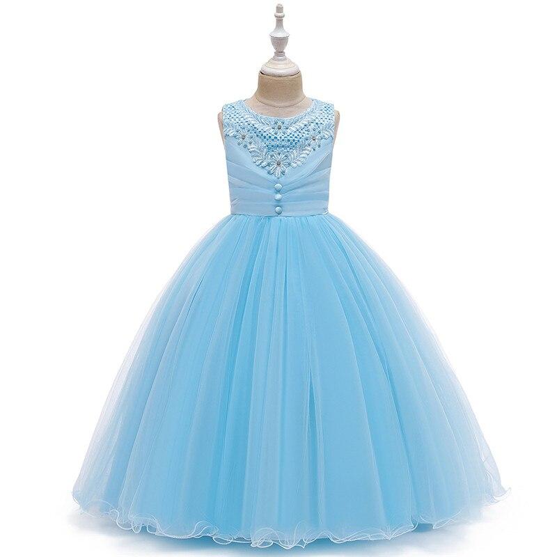 Flower Girl Dress Teen Girl Christmas Dress For Girls Prom Attend Formal Party Dresses Girls Clothes White Girl Costume