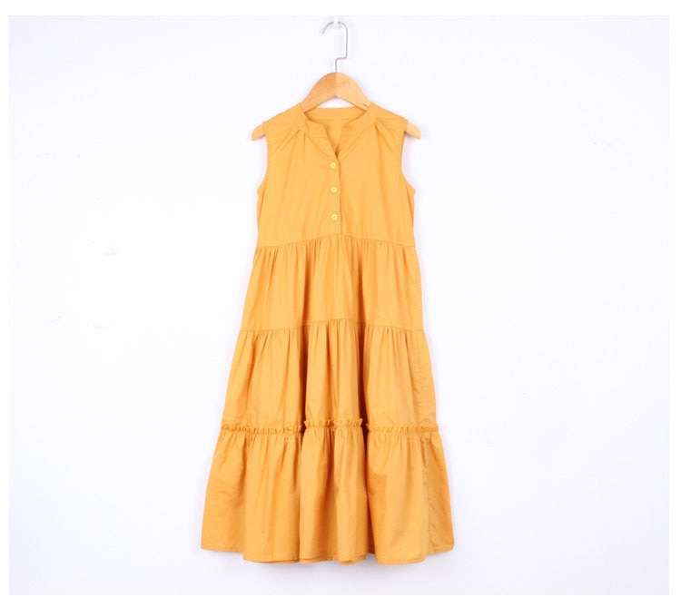 teen little girls party dresses 2020 maxi long teenage girls summer dresses yellow children clothing age 4 6 8 10 12 14 16 years