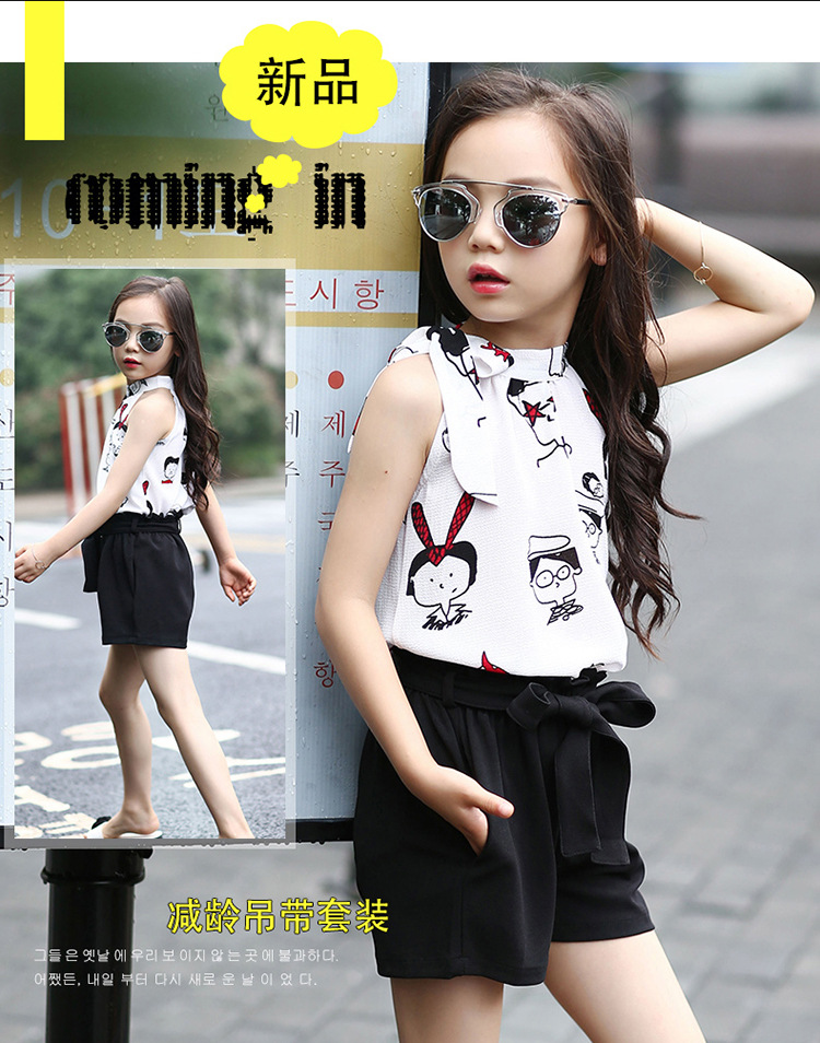 2020 New Hot Sale Girl Clothing Set Sleeveless Blouse and Pants for Baby Girl Summer Wear Children Clothing 2 Pcs Baby Clothes