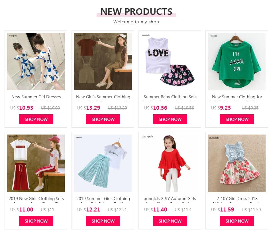 2019 New Girls Clothing Sets Summer Children Sequin T-shirt Short Sleeve +pants Set Kids Outwear Baby Girls Clothes