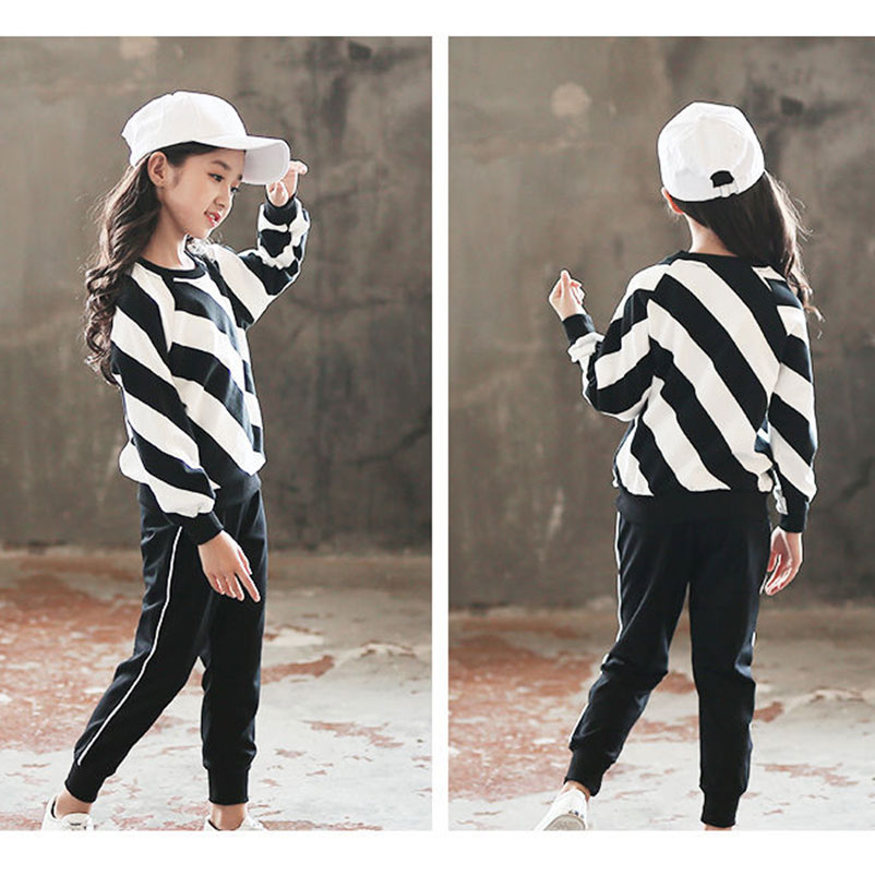 Spring Autumn Girls Clothing Sets Children Sports Suits Kids Long Sleeve T-shirt +pants 2pc Girl Outwear Clothes Sets