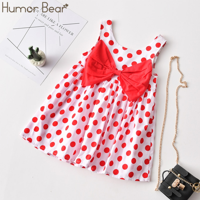 Humor Bear Girls Dress 2020 NEW Summer Wedding  Sweet Princess Birthday  Party Dress Fashion Toddler Baby Kids Girls Clothing