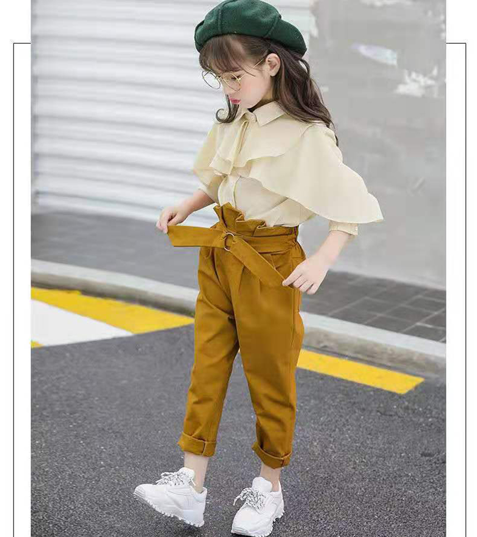 New 2019 Shirt + Pants Baby Child Girl Suit 2 Pieces Fashion Girls Clothing Sets 10 12 Years Children's Clothes 6 8 10 Baby Girl