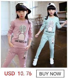 2020 New Girls clothes Sets print Lovely pattern Children Tracksuit kid clothing suit casual toddler baby sweatshirts+pants 2Pcs