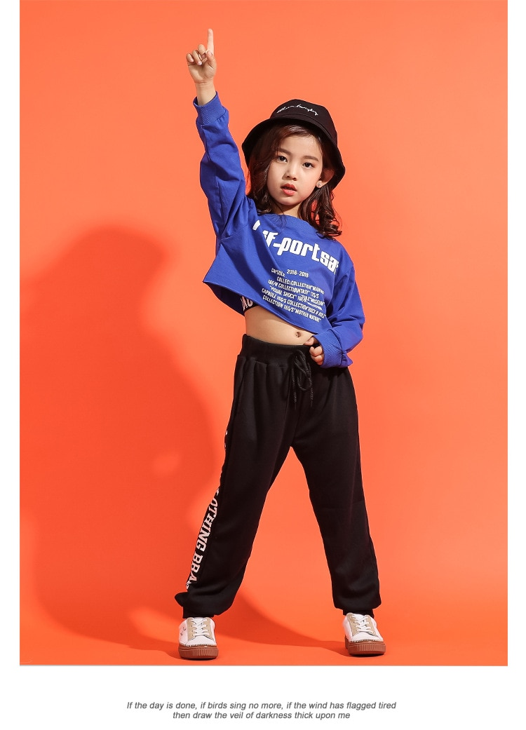 New Arrival 2019 Hip Hop 3 Pcs Sets Cotton Teenage Girls Street Dance Clothing Crop Tops Pants Vest Jazz Streetwear Sports Suits