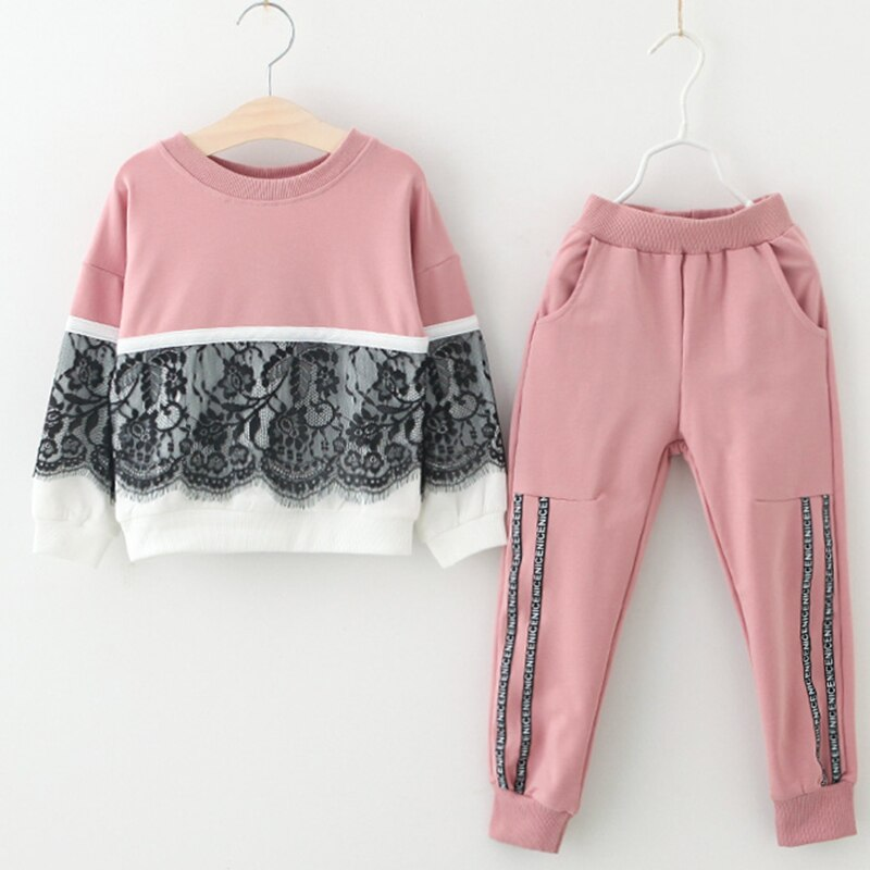 Bear Leader Girls Clothing Sets New Spring Active girls clothes L Children Clothing Cartoon Print Sweatshirts+Pants Suit 3-7Y