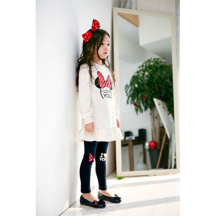 2020 Girls Clothes Sets Spring autumn  Costume kids Clothing suit Two pieces Minnie Long Sleeve toddler Children clothing