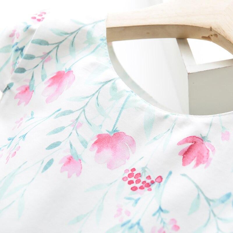 Sodawn Summer Girls Dress 2020 NEW Cotton Gorgeous Flower Sleeveless Princess Party Dress Fashion Baby Kids Girls Clothing