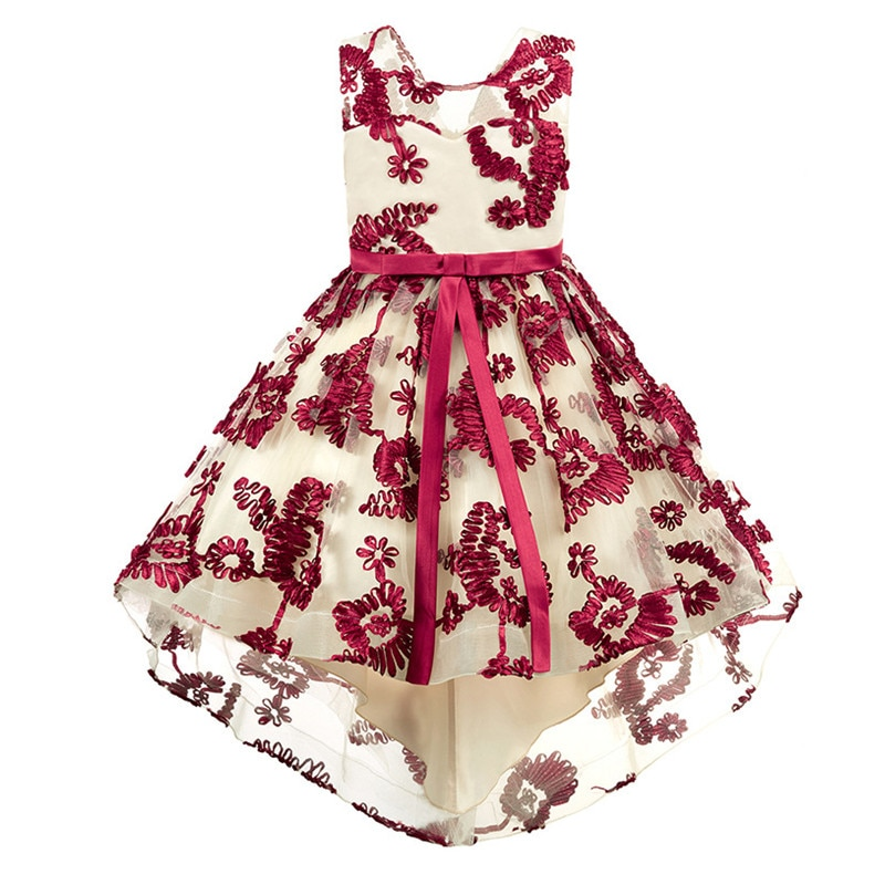 Flower Baby Girls Dress For Girls Wedding Party Dresses Kids Princess Summer Dress Children Girls Clothing Age 2-10 Years