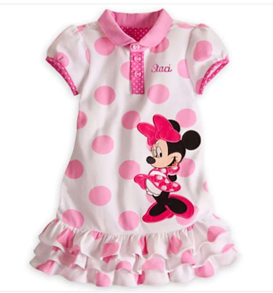 2019 Disney princess Children's clothing girl cartoon cotton dress Mickey mouse baby fashion layered dress minnie summer