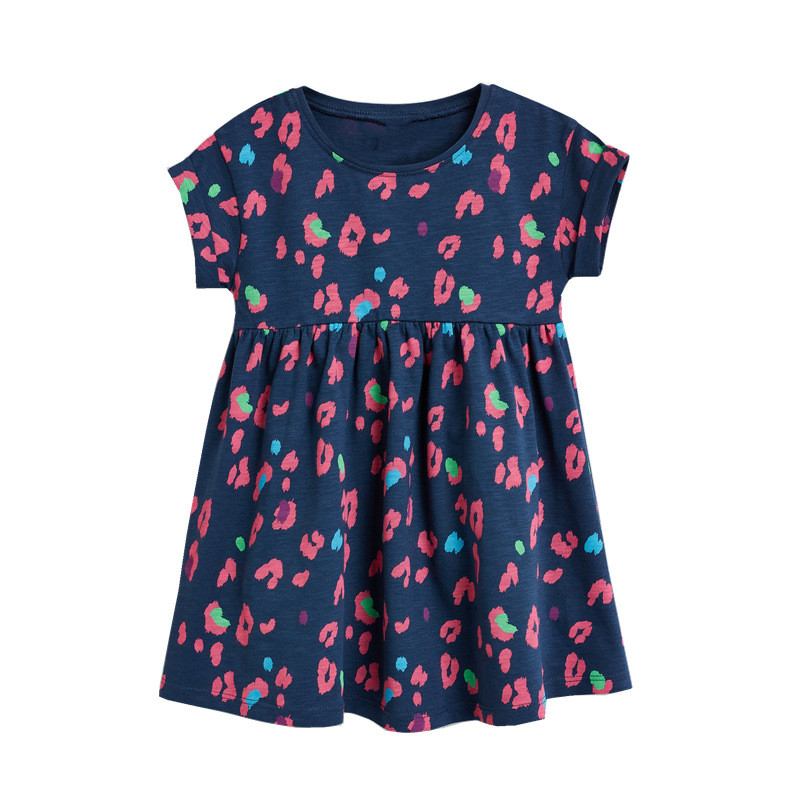 Jumping Meters New 2020 Princess Party Girls Dresses Summer Cotton Kids Clothing Fashion Hot Selling Children's Dress Tops Girls