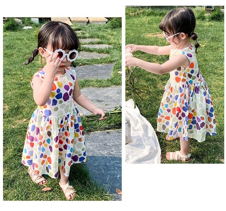 Humor Bear 2020 Summer Toddler Dress Princess Girls Dress Plaid Tank Dress Sleeveless Dress For  Baby Girls Clothing