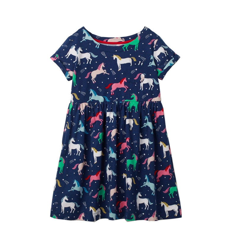 Jumping Meters Girls Floral Dresses for Summer Baby 100% Clothing Fashion New Arrival Kids Tutu Party Dress