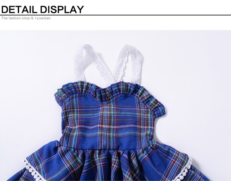 EACHIN Girls Dresses New Red Plaid Print Tutu Party Camisole Dress Summer Sleeveless Princess Dress Baby Children's Clothing