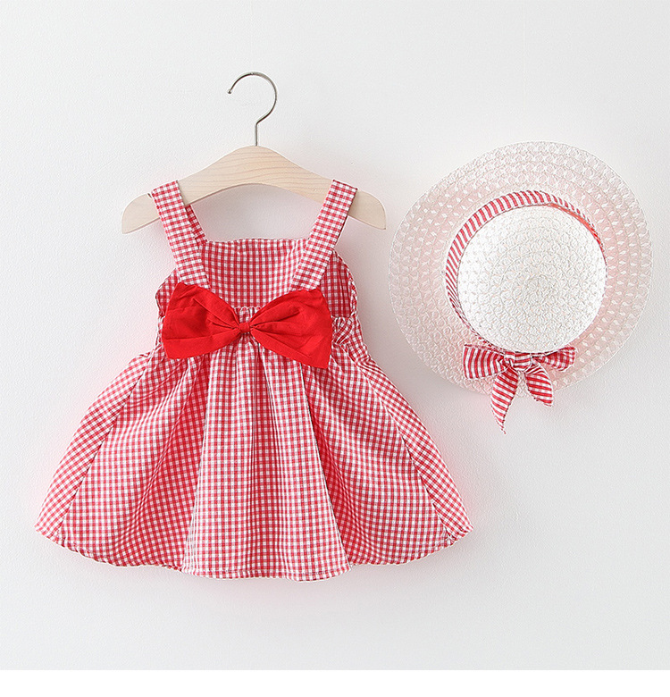 Humor Bear New Summer Baby Girl Clothes Strap Bow Vest + Floral Shorts + Fashion Hat 3Pcs Set Baby Clothing Suit Girls Clothes