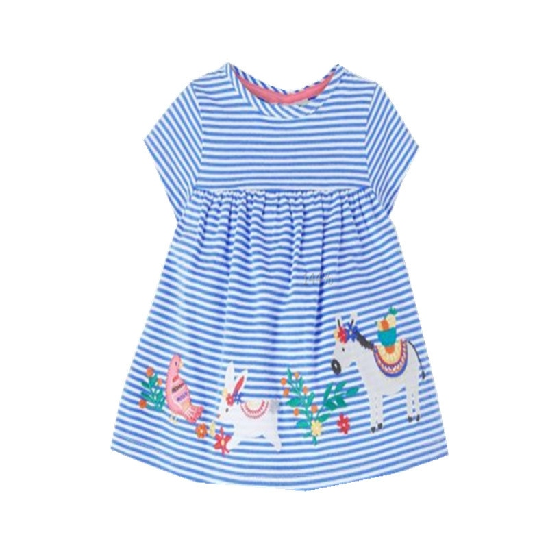 Jumping Meters Top Brand New 2020 Flowers Princess Dress for Summer Cotton Children Clothing Toddler Floral Girls Party Dresses