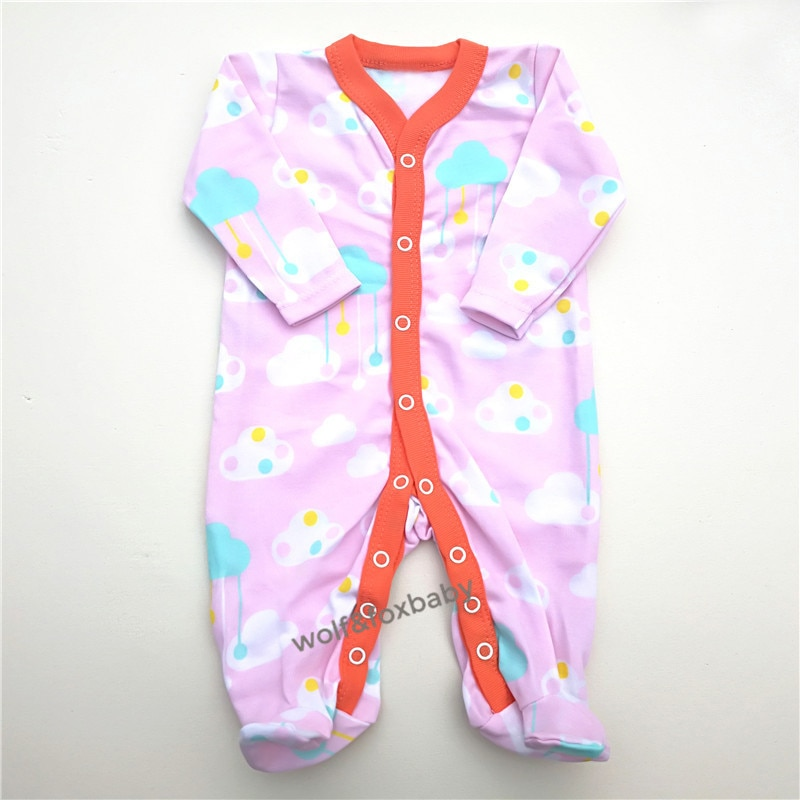 Retail 3pcs/lot 0-12months long-Sleeved Baby Infant cartoon footies bodysuits for boys girls jumpsuits Clothing newborn clothes